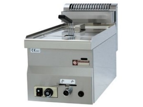 Diamond Gas Fryer | 8 Liter | tabletop | 6,8 Kw | 300x600x280 / 400 (h) mm
