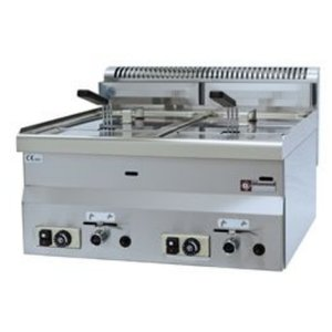 Diamond Gas Fryer | 2x8 Liter | Tischplatte | 13,6 Kw | 600x600x280 / 400 (h) mm