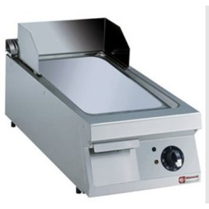 Diamond Bakplaat Elektrisch RVS | Glad | Verchroomde Plaat | 7,5kW/400V | 400x900x250/320(h)mm