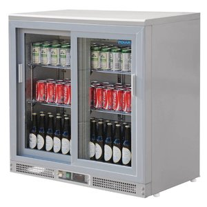 Polar Barkoeling with 2 Glass Doors - 182 bottles - 233 liters - 900 (b) x535 (d) X920 (H) mm