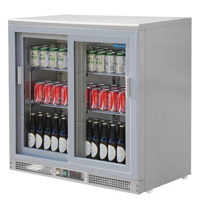 Polar Barkoeling with 2 Glass Doors - 182 bottles - 233 liters - 900 (b) x535 (d) X920 (H) mm
