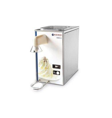Hendi Schlagsahne-Maschine Edelstahl | 50 Liter / Stunde | 2,5 Liter Lagerung | 230x400x430 (h) mm