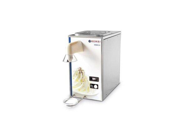 Hendi Whipped Cream Machine stainless steel   50 liters / hour   2.5 liters of storage   230x400x430 (h) mm
