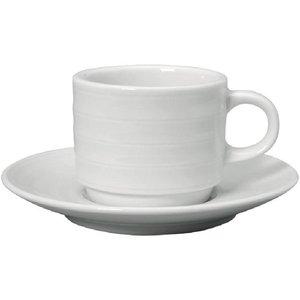XXLselect Espressokopje + Schotel | Intenzzo | Wit Porselein | 80ml | Per 4 Stuks