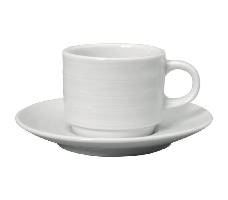XXLselect Espressokopje + Schotel   Intenzzo   Wit Porselein   80ml   Per 4 Stuks