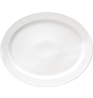 "XXLselect Ovale Schaal ""Intenzzo"" | Wit Porselein | 340x280mm"