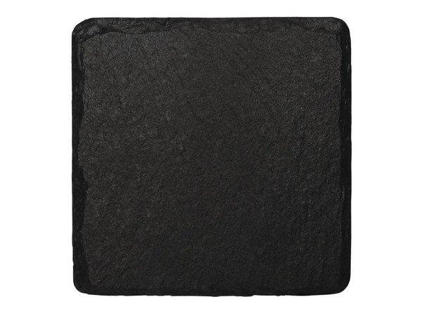 XXLselect Serveerschaaltje Leisteen | 130x130mm | Verpakt per 4