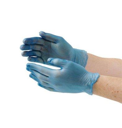 XXLselect Wegwerp Handschoenen - Blauw Vinyl - Poedervrij - Beschikbaar in 3 Maten - 100 Stuks