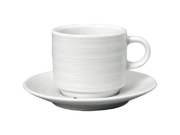 XXLselect Cappuccinokopje + Schotel | Intenzzo | Wit Porselein |360ml | Per 4 Stuks