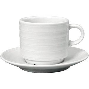 XXLselect Cappuccinokopje + Schotel | Intenzzo | Wit Porselein | 150ml | Per 4 Stuks