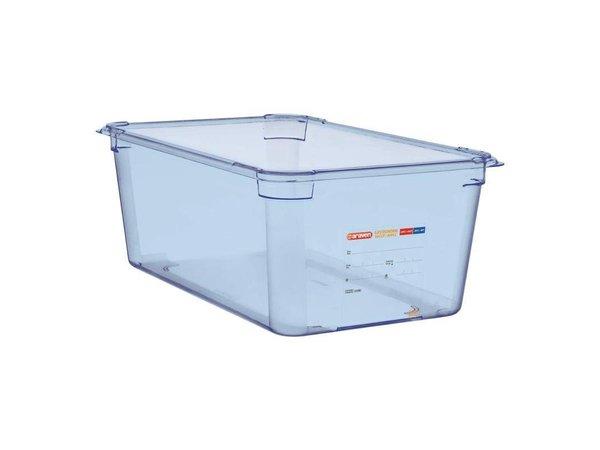 Araven Nahrungsmittelbehälter Blau ABS - GN1 / 1 | 200 mm tiefe