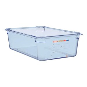 Araven Nahrungsmittelbehälter Blau ABS - GN1 / 1 | 150 mm tiefe
