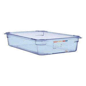 Araven Nahrungsmittelbehälter Blau ABS - GN1 / 1 | 100 mm tiefe