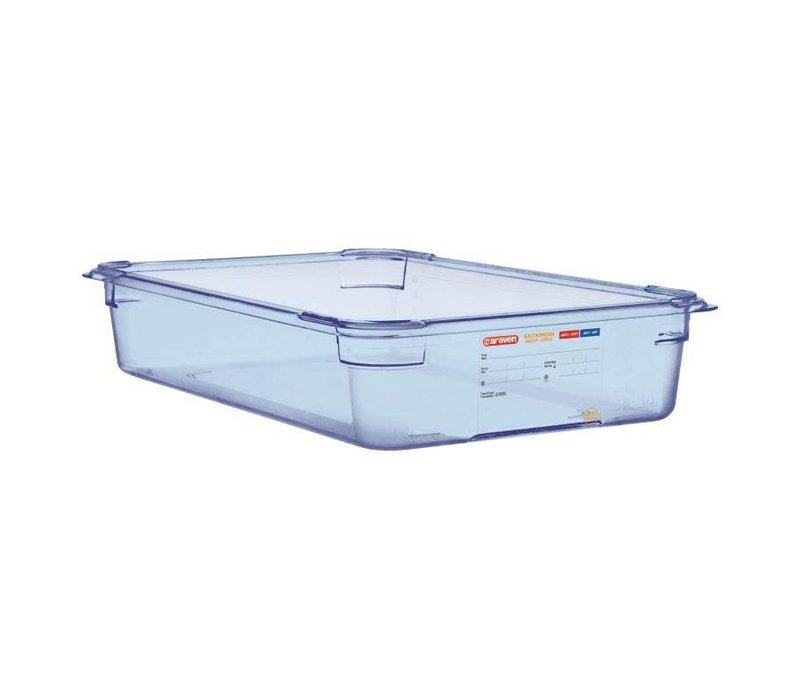 XXLselect Food Container Blue ABS - GN1 / 1 | 100mm Deep