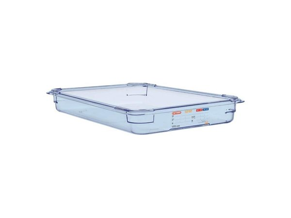 XXLselect Food Container Blue ABS - GN1 / 1   65mm Deep
