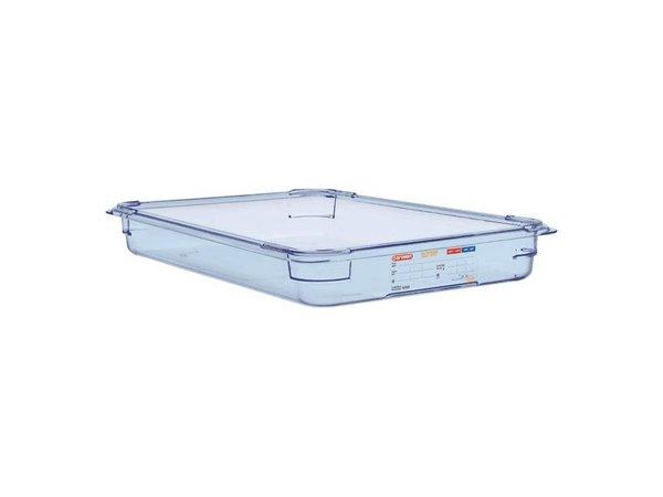 XXLselect Nahrungsmittelbehälter Blau ABS - GN1 / 1 | 65mm tief
