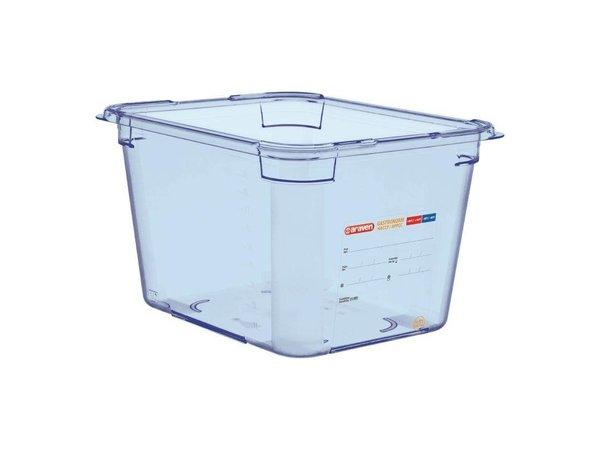 Araven Nahrungsmittelbehälter Blau ABS - GN1 / 2 | 200 mm tiefe