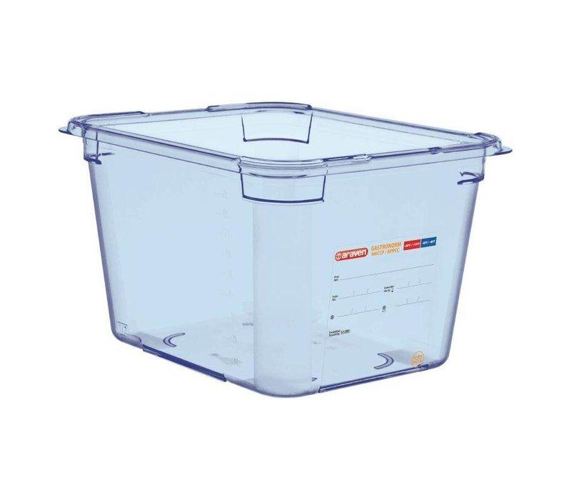 XXLselect Nahrungsmittelbehälter Blau ABS - GN1 / 2   200 mm tiefe