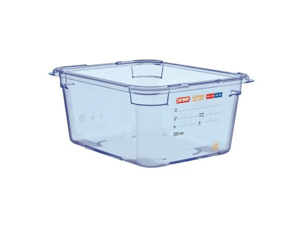XXLselect Food Container Blue ABS - GN1 / 2   150mm Deep