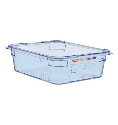 Araven Food Container Blue ABS - GN1 / 2 | 100mm Deep