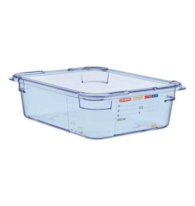 Araven Nahrungsmittelbehälter Blau ABS - GN1 / 2   100 mm tiefe