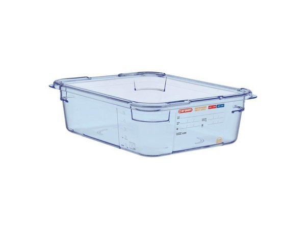 Araven Nahrungsmittelbehälter Blau ABS - GN1 / 2 | 100 mm tiefe