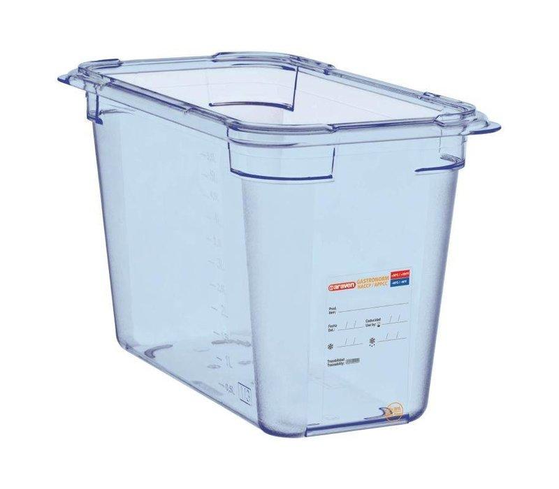 Araven Nahrungsmittelbehälter Blau ABS - GN1 / 3 | 200 mm tiefe