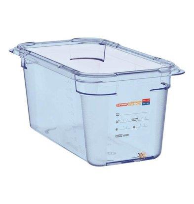 Araven Nahrungsmittelbehälter Blau ABS - GN1 / 3   150 mm tiefe