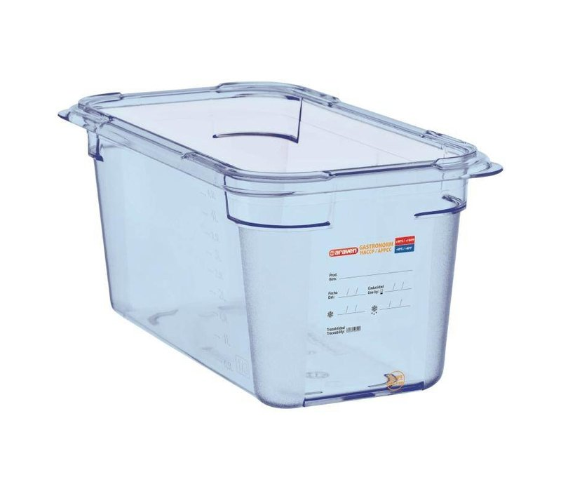 Araven Nahrungsmittelbehälter Blau ABS - GN1 / 3 | 150 mm tiefe