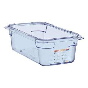 Araven Nahrungsmittelbehälter Blau ABS - GN1 / 3 | 100 mm tiefe
