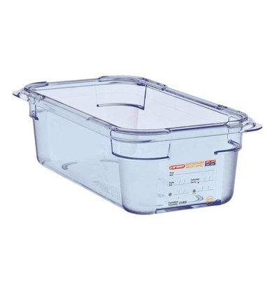 Araven Nahrungsmittelbehälter Blau ABS - GN1 / 3   100 mm tiefe