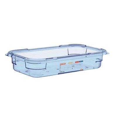 Araven Nahrungsmittelbehälter Blau ABS - GN1 / 3   65mm tief