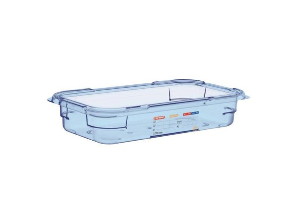 Araven Food Container Blue ABS - GN1 / 3 | 65mm Deep