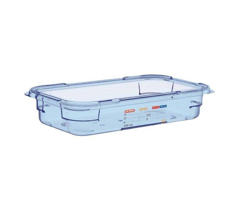 Araven Nahrungsmittelbehälter Blau ABS - GN1 / 3 | 65mm tief