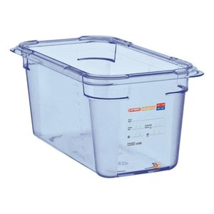 Araven Voedselcontainer Blauw ABS - GN1/4 | 150mm Diep