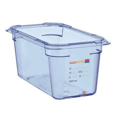 Araven Nahrungsmittelbehälter Blau ABS - GN1 / 4   150 mm tiefe