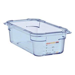 Araven Nahrungsmittelbehälter Blau ABS - GN1 / 4 | 100 mm tiefe