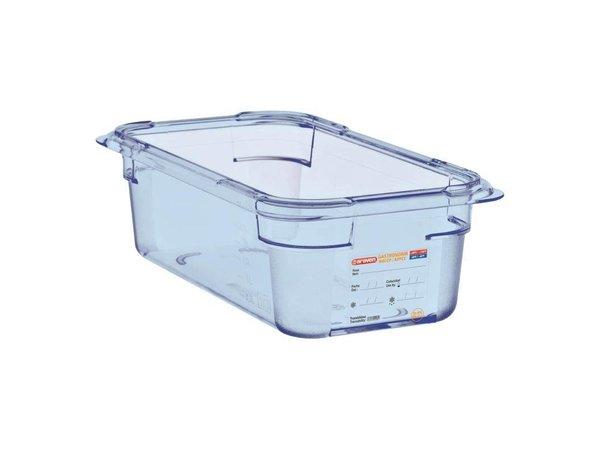 XXLselect Nahrungsmittelbehälter Blau ABS - GN1 / 4   100 mm tiefe