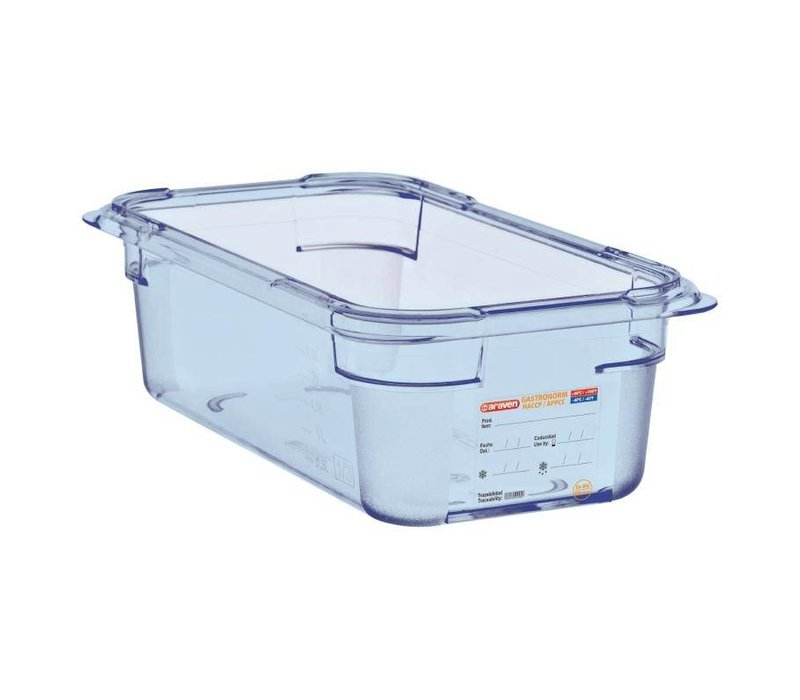 XXLselect Food Container Blue ABS - GN1 / 4 | 100mm Deep