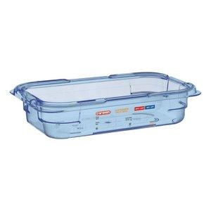 Araven Nahrungsmittelbehälter Blau ABS - GN1 / 4 | 65mm tief