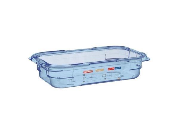 Araven Nahrungsmittelbehälter Blau ABS - GN1 / 4   65mm tief