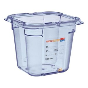 Araven Nahrungsmittelbehälter Blau ABS - GN1 / 6 | 150 mm tiefe