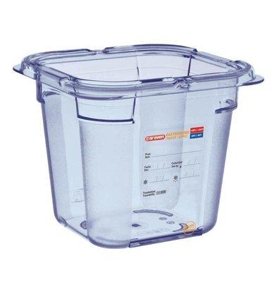 Araven Nahrungsmittelbehälter Blau ABS - GN1 / 6   150 mm tiefe