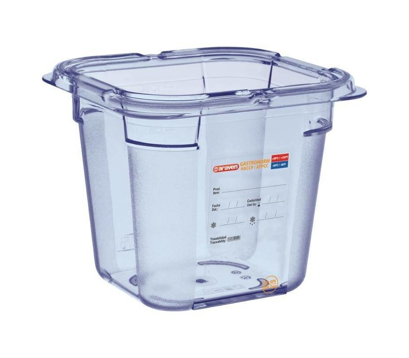 XXLselect Voedselcontainer Blauw ABS - GN1/6 | 150mm Diep