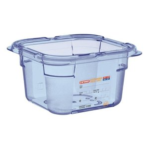 Araven Food Container Blue ABS - GN1 / 6 | 100mm Deep