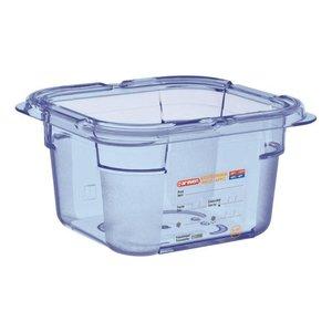 Araven Voedselcontainer Blauw ABS - GN1/6 | 100mm Diep