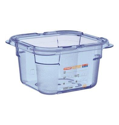 Araven Nahrungsmittelbehälter Blau ABS - GN1 / 6   100 mm tiefe