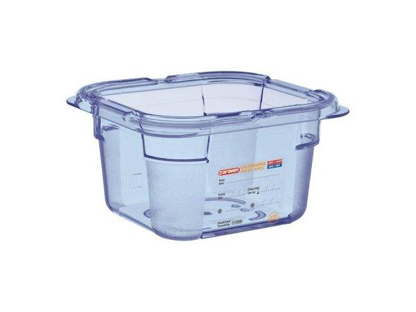 XXLselect Voedselcontainer Blauw ABS - GN1/6 | 100mm Diep