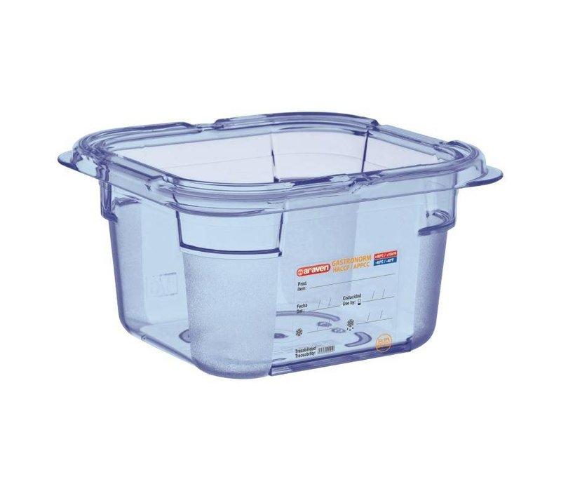 Araven Nahrungsmittelbehälter Blau ABS - GN1 / 6 | 100 mm tiefe