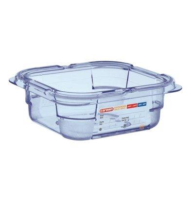 Araven Nahrungsmittelbehälter Blau ABS - GN1 / 6   65mm tief